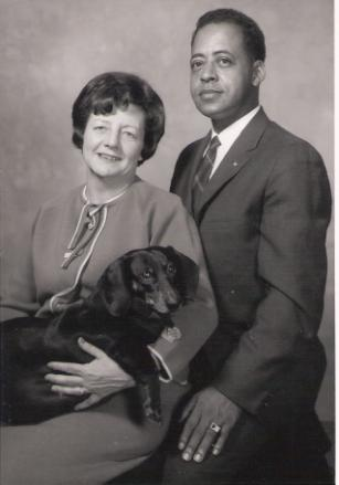 Betty and Barney Hill with their dog, Delsey