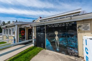 UFO Gas Station Mural - photo by Frank Grace