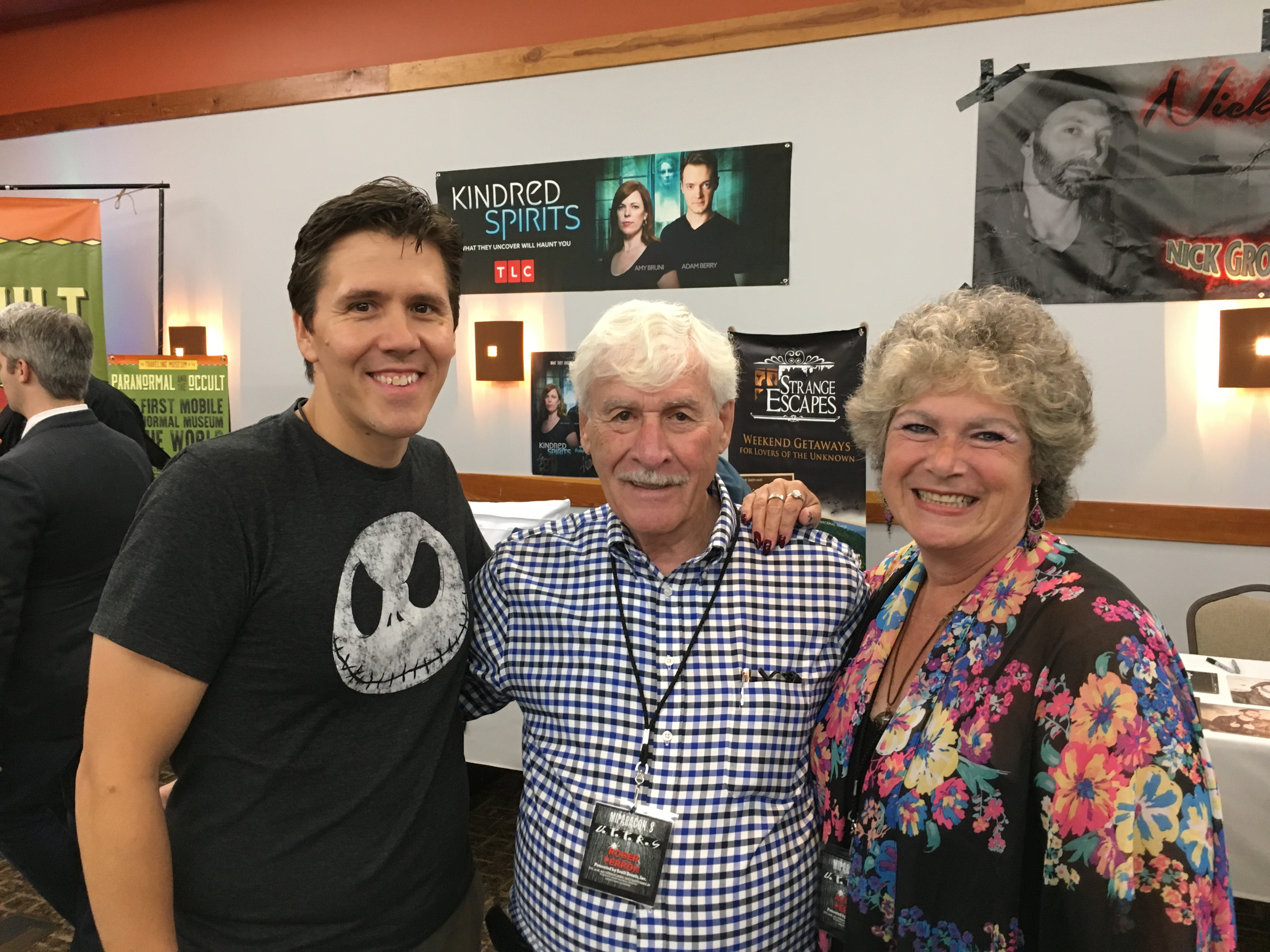 Jeff Belanger with Roger and Andrea Perron from The Conjuring