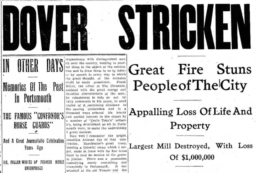Fire headline