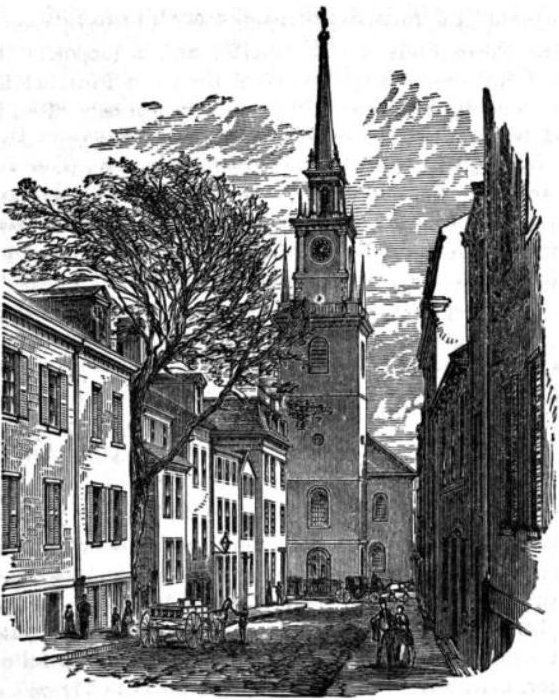 Old North Church in Boston circa 1882