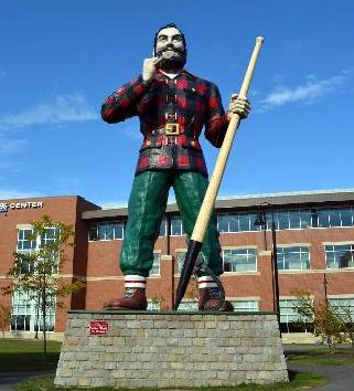 Paul Bunyan statue in Bangor, Maine