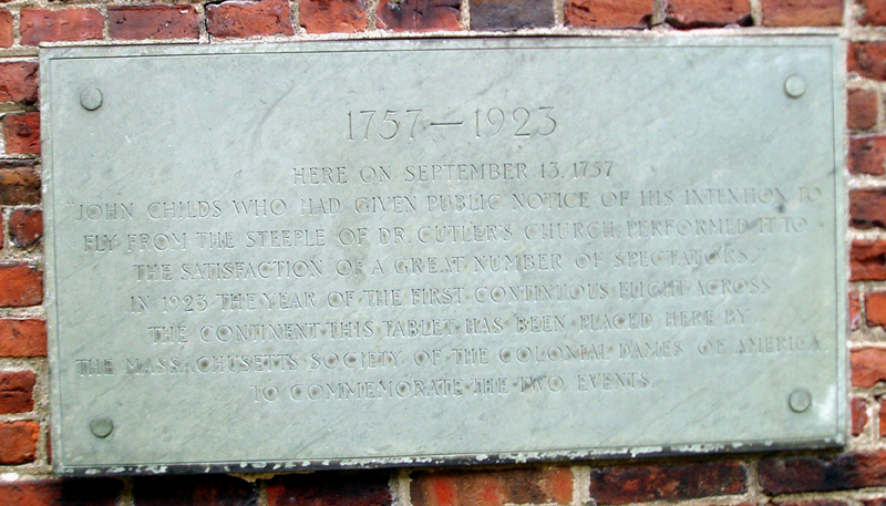 John Childs Plaque - Old North Church