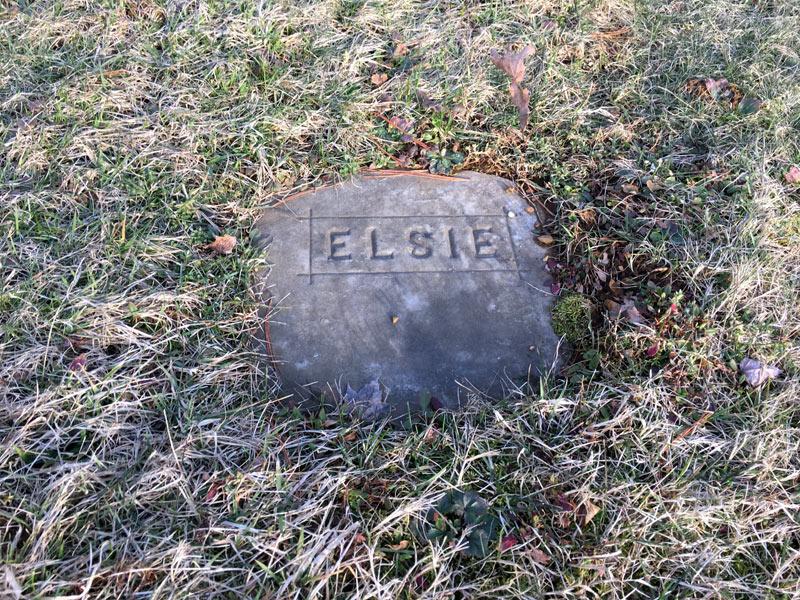 Elsie Newton's Grave