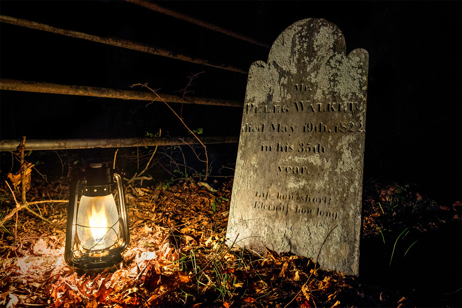 The grave of Peleg Walker - Photo by Frank Grace