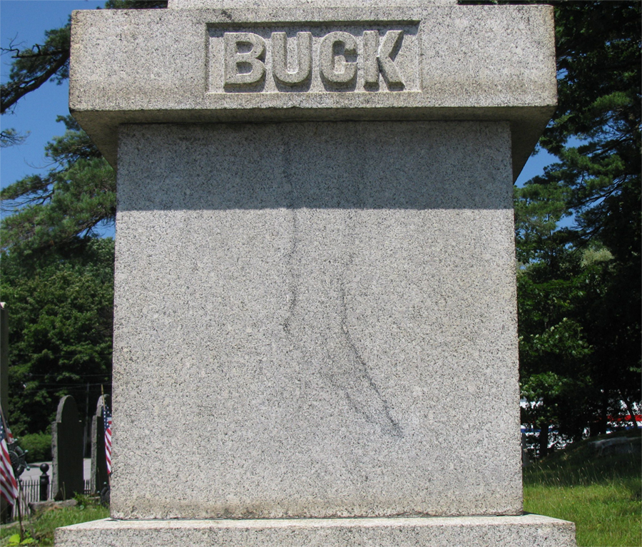 Jonathan Buck Cursed Monument in Bucksport, Maine