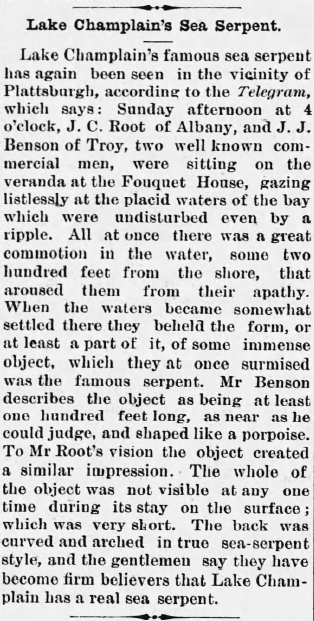 October 1, 1886 Poultney Journal in Vermont