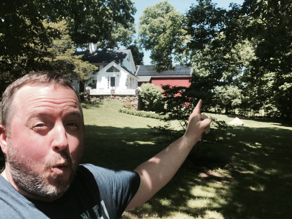 Ray Auger showing you the John Capen Grizzly Adams House in Medway, Massachusetts.