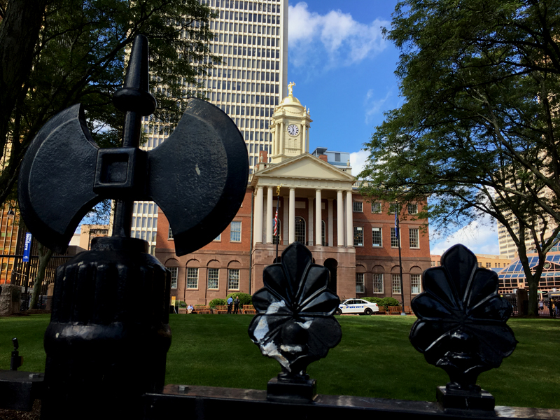 Old State House in Hartford, Connecticut - site of Alse Young's hanging. Photo by Jeff Belanger