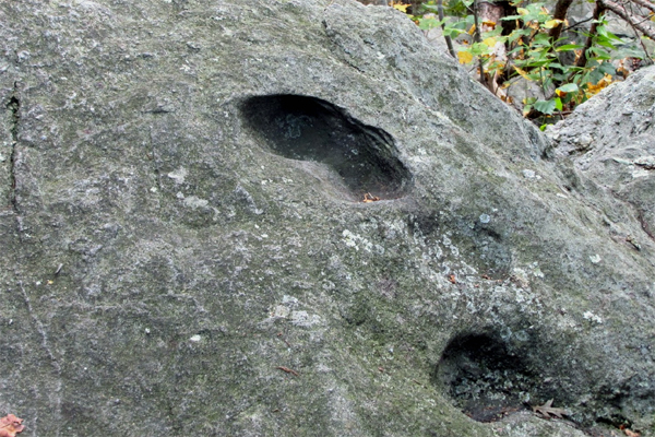The Devil's Footprint in North Kingstown, Rhode Island
