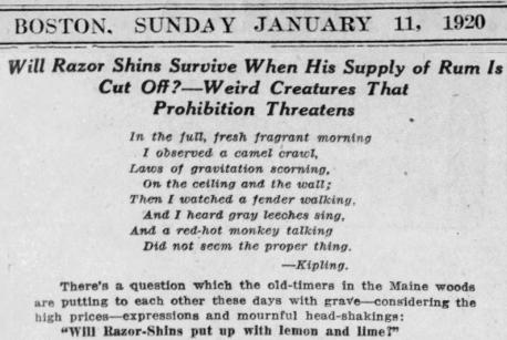 Razor Shins News 1920