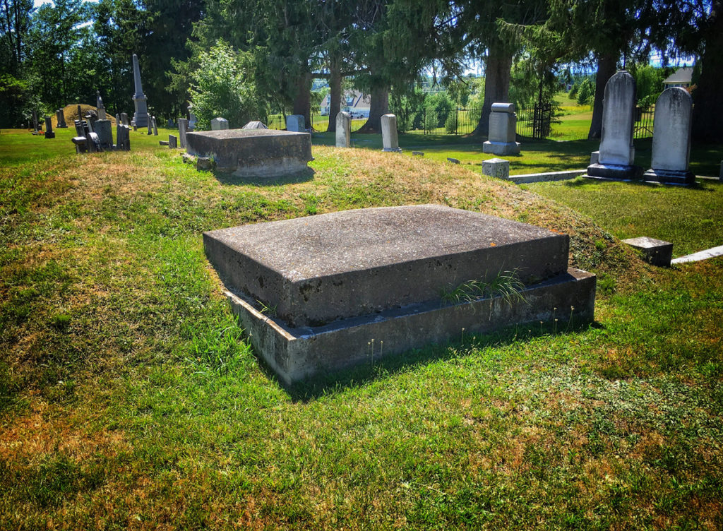 Timothy Clark Smith's grave at Evergreen Cemetery in New Haven, Vermont