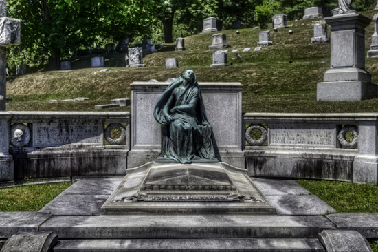 Black Agnes Grave in Green Mount Cemetery, Montpelier, Vermont. Photo by Frank Grace