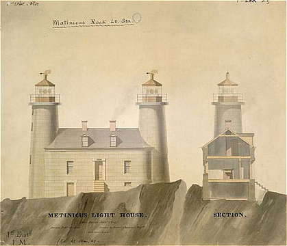 Matinicus Rock Lighthouse plans 1848