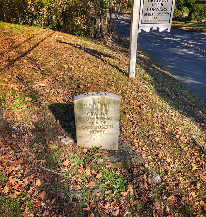 Hannah Cranna's grave near Spring Hill Road. Photo by John Judd