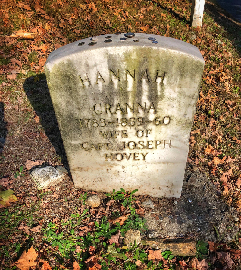 Hannah Cranna's Grave - The Wicked Witch of Monroe. Photo by John Judd