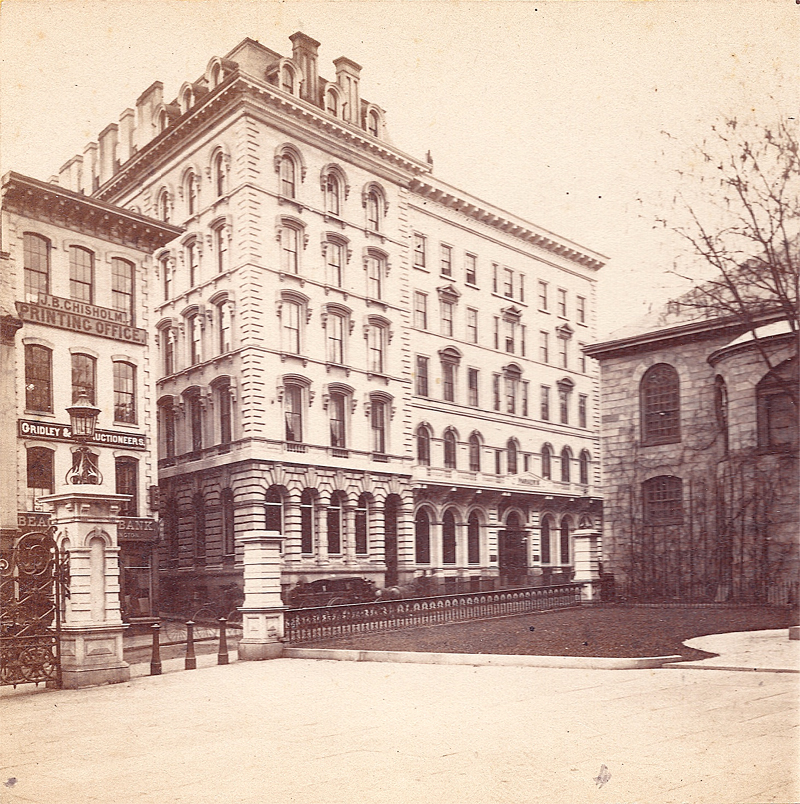Boston's Parker House Hotel circa 1866.