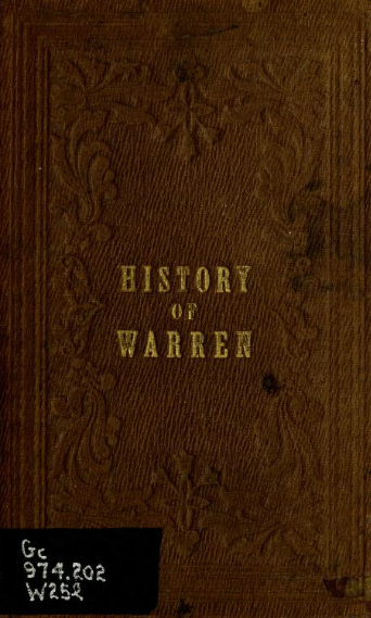 History of Warren, New Hampshire by William Little, 1854.