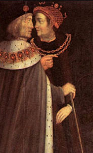 King Henry VII with Edmund Dudley (right)