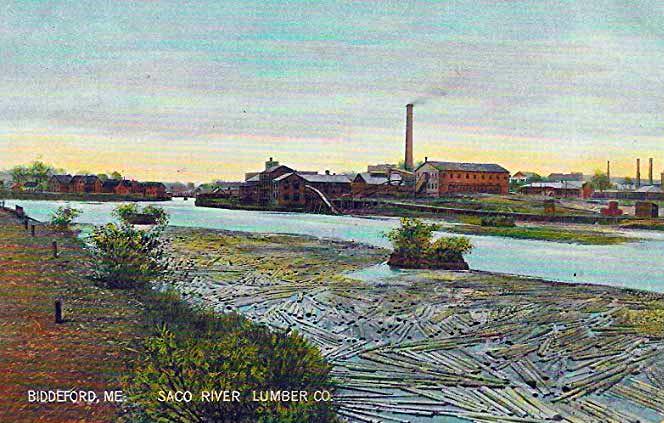 Saco River Lumber Yard in Biddeford, Maine.