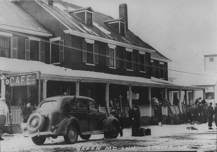 The Green Mountain Inn in Stowe, Vermont, circa 1935.