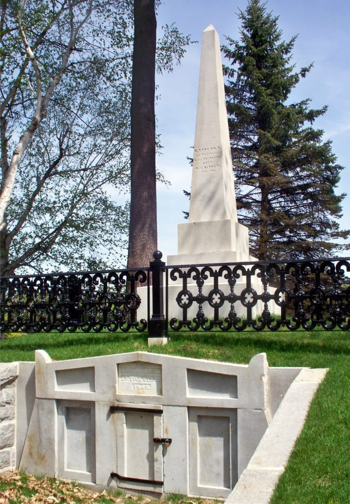 The Tomb of Governor Enoch Lincoln in Capitol Park, Augusta, Maine.