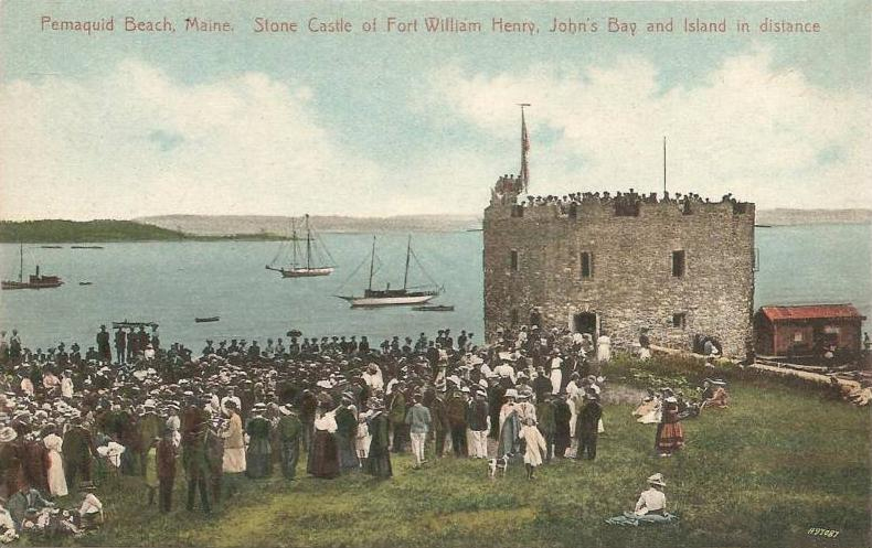 1908 Post Card from Fort William Henry at Pemaquid Beach, Maine.