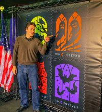 Jeff Belanger at the 2019 First Day of Issue Launch of the 2019 US Postal Service's Halloween Stamps.