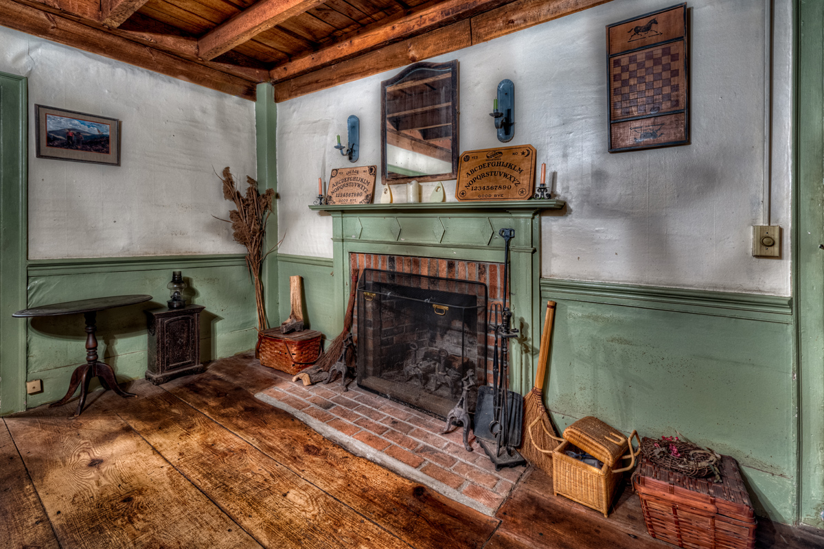 The Conjuring House Fireplace. Photo by Frank Grace.