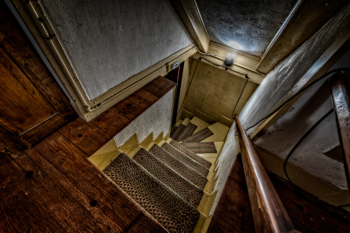 The Conjuring House Stairway. Photo by Frank Grace.