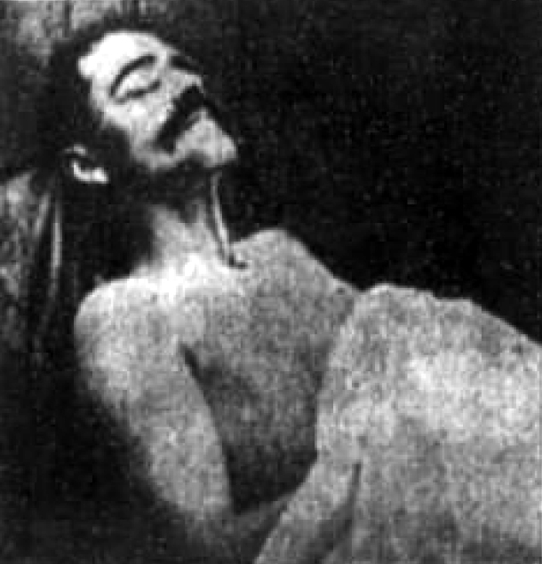 The body of the slain Deep River bank robber, XYZ. AKA Frank Howard.
