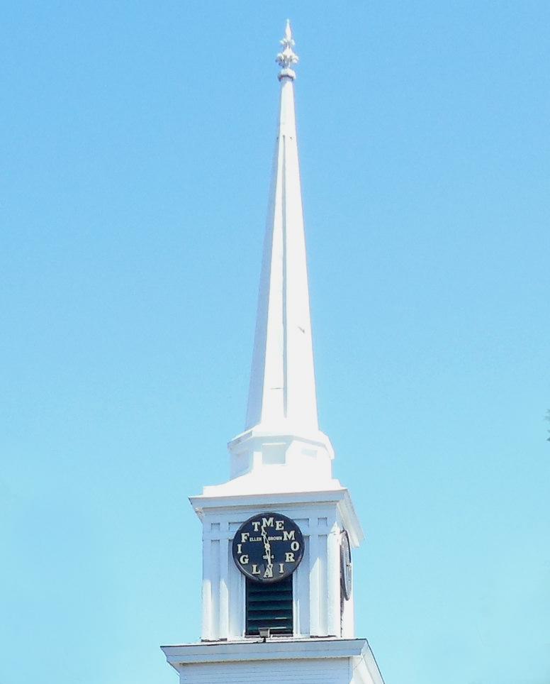 First Baptist Church Steeple in Hampton Falls, New Hampshire.