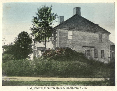 Postcard of the General Jonathan Moulton House in Hampton, New Hampshire.