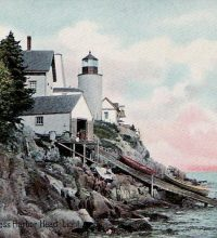 Haunted Bass Harbor Lighthouse in Maine.