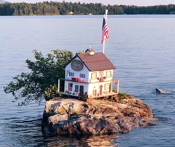 The island of Becky's Garden on Lake Winnipesaukee in New Hampshire.