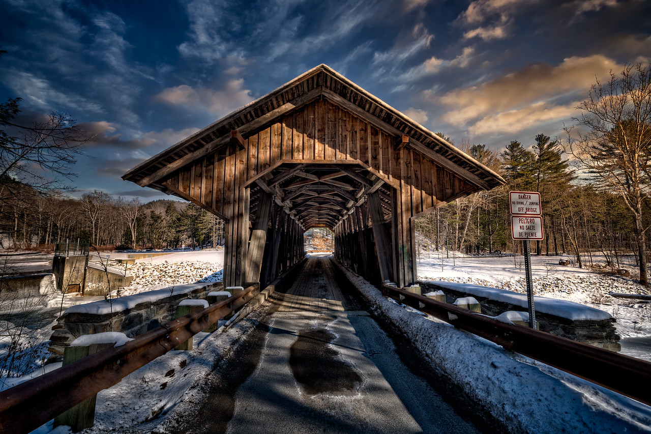 The haunted Eunice Williams Covered Bridge in Greenfield, Massachusetts. Photo by Frank Grace.