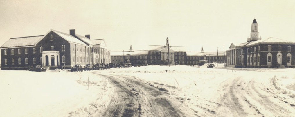 Fairfield Hills Hospital in Newtown, Connecticut, circa 1930s.