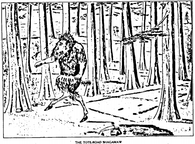 The Tote Road Shagamaw - from William T. Cox's 1910 book: Fearsome Creatures of the Lumberwoods.