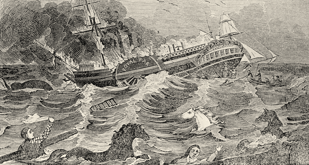 The wreck of the Royal Tar - October 25, 1836