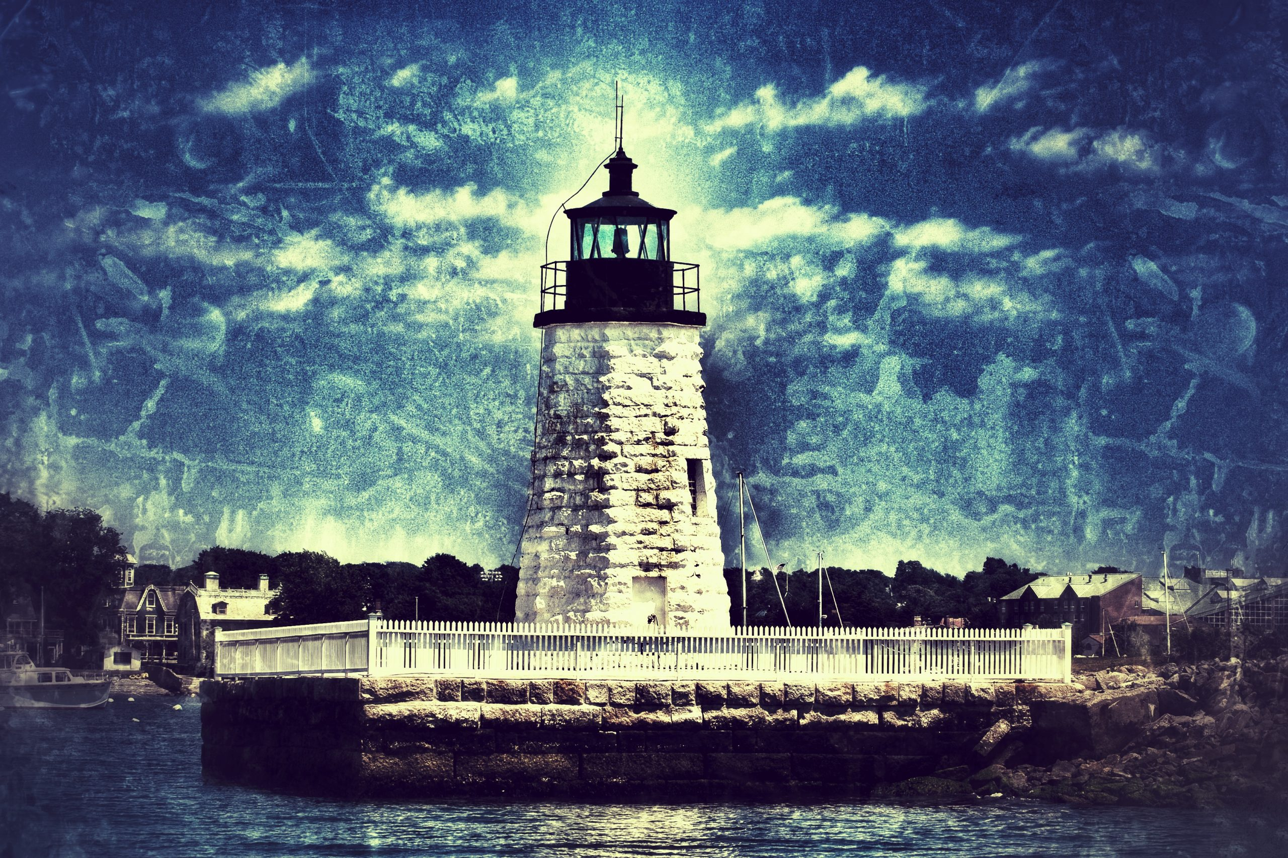 The Newport Harbor Lighthouse - Where 26 Pirates lie in a mass grave.