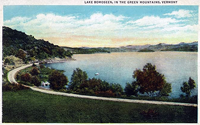 A postcard from scenic Lake Bomoseen in Castleton, Vermont.