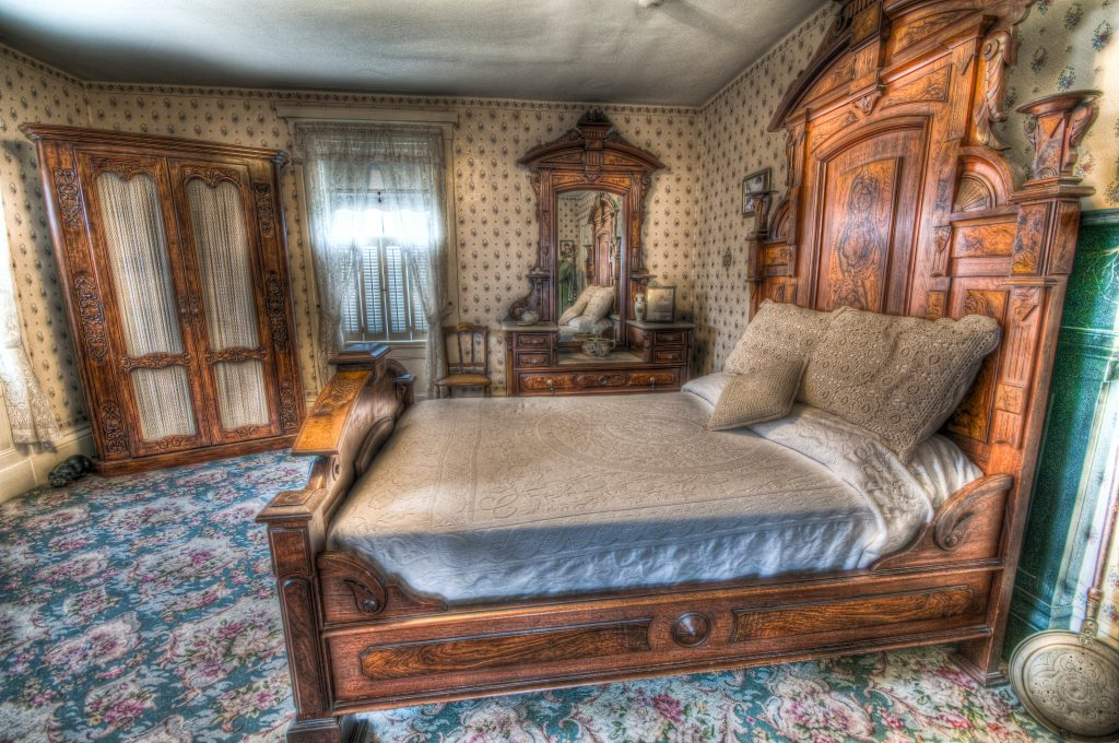 The Lizzie Borden House guest room where Abby Borden was murdered. Photo by Frank Grace.