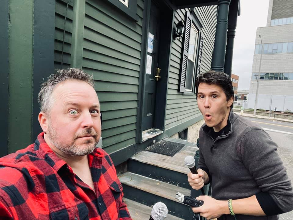 Ray and Jeff get ready to head inside the Lizzie Borden House.
