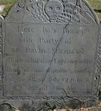 The grave of David Sherman. Photo courtesy of Bette Jenneman Blackwell.