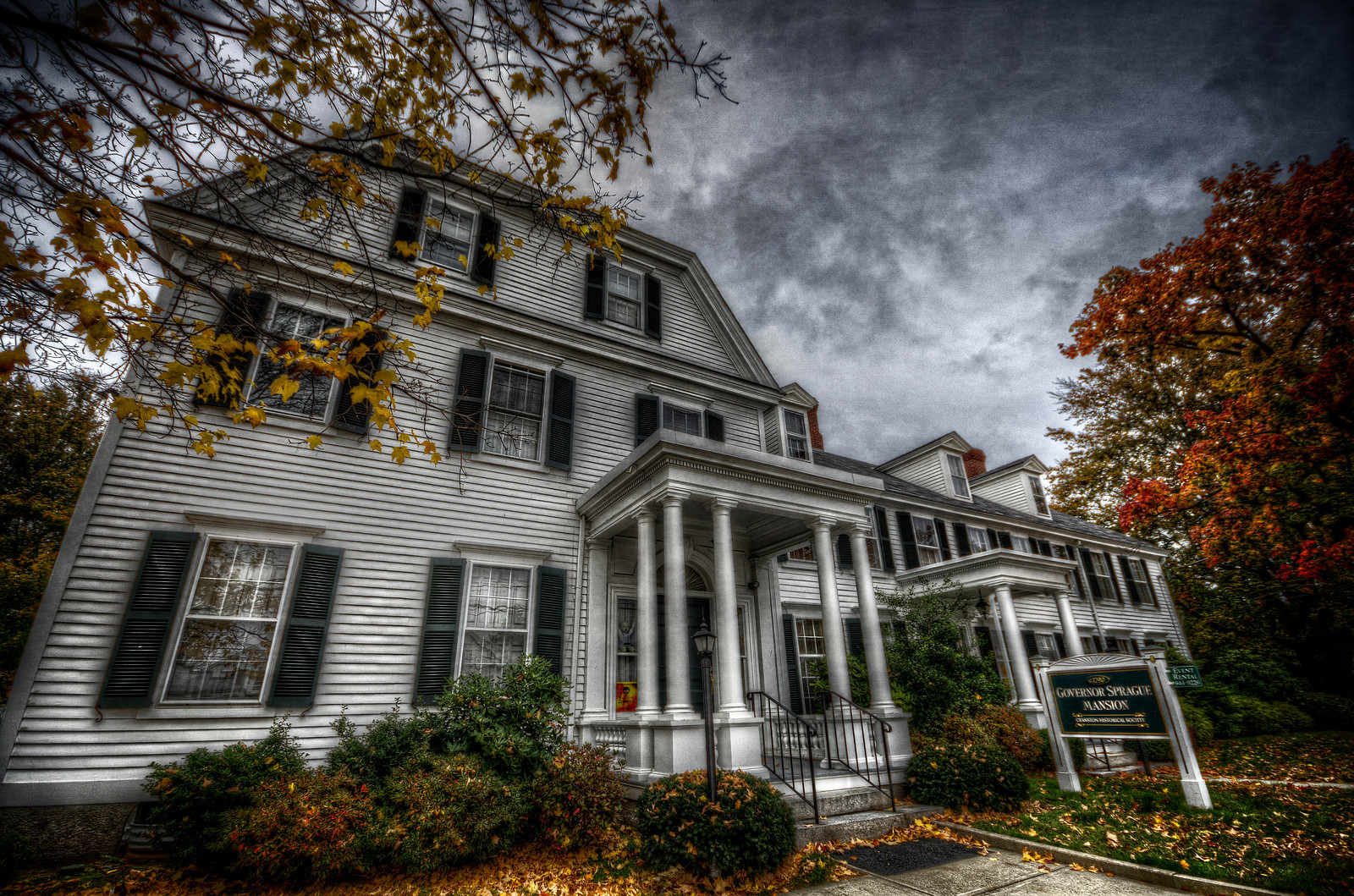 The Governor Sprague Mansion in Cranston, Rhode Island. Photo by Frank Grace.