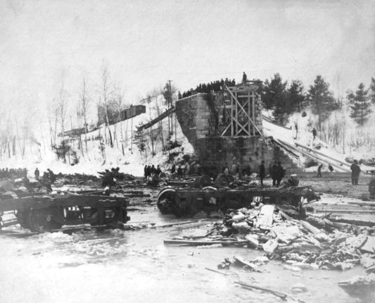 The West Hartford, Vermont, Bridge wreck site from the White River.