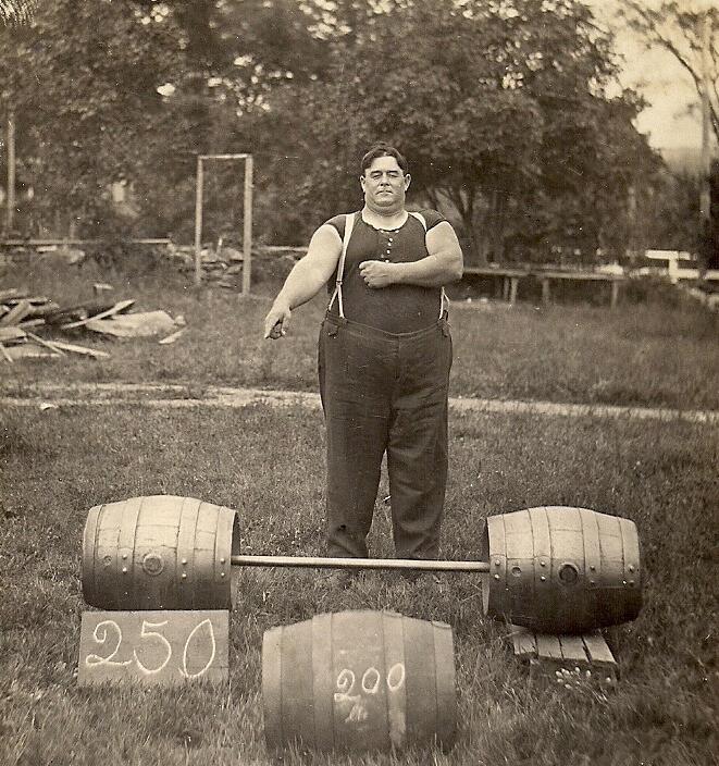 Elmer Bitgood of Voluntown, Connecticut. The Strongest Man in the World! Photo courtesy of Lorna Bitgood Dorr.