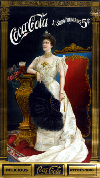 Lillian Nordica as a model in Coca-Cola advertising.
