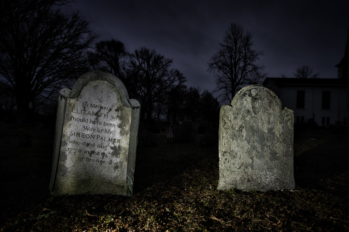 The graves of Elizabeth and Lydia Palmer in Little Compton, Rhode Island. Photo by Frank Grace.