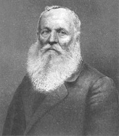 Joseph Palmer (1789 - 1873) of Leominster, Massachusetts. Persecuted for wearing a beard.
